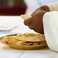 Hostie für die Kirche